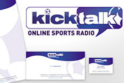 Kicktalk Online Sports Radio stationary and logo